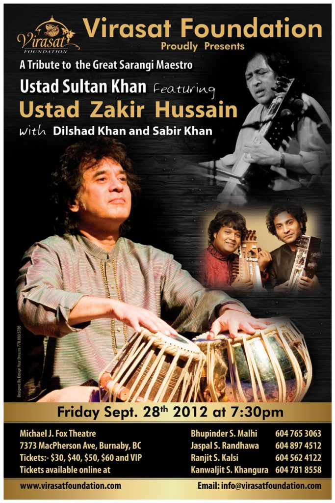 Tribute Concert for Ustad Sultan Khan – 2012